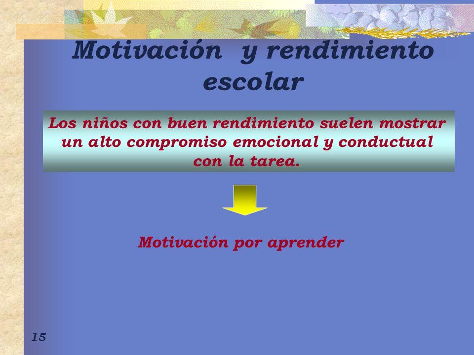 Motivación y rendimiento escolar
