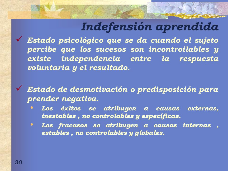 Indefensión aprendida