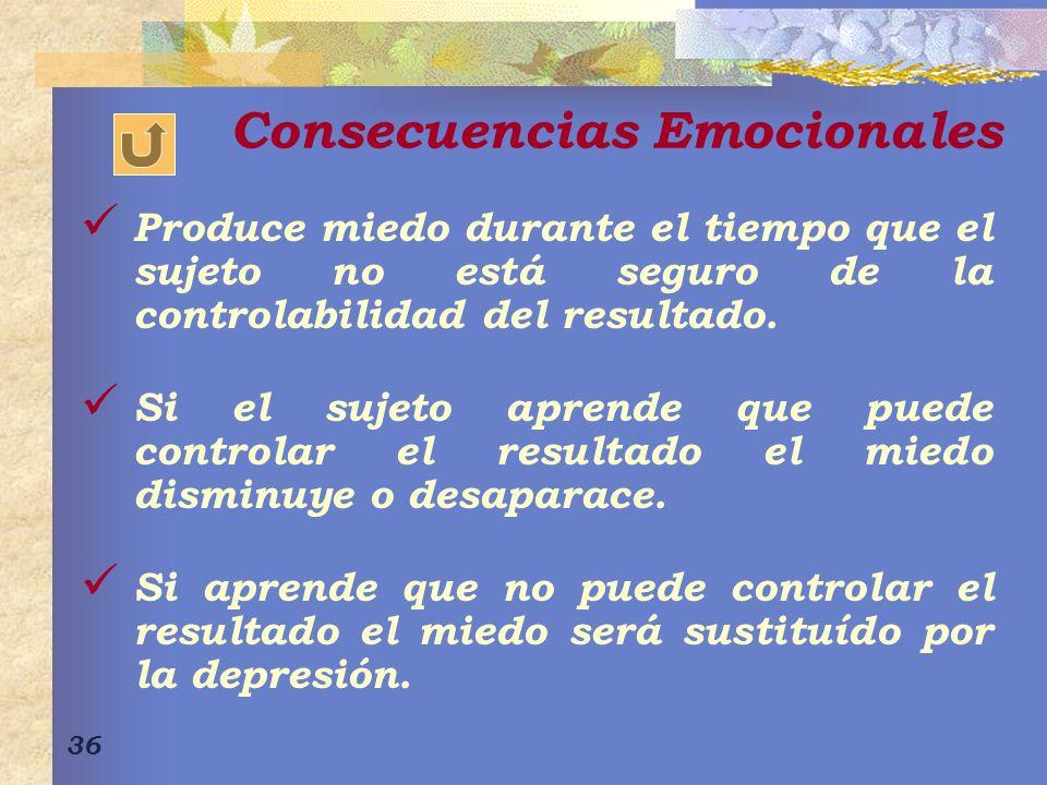 Consecuencias Emocionales