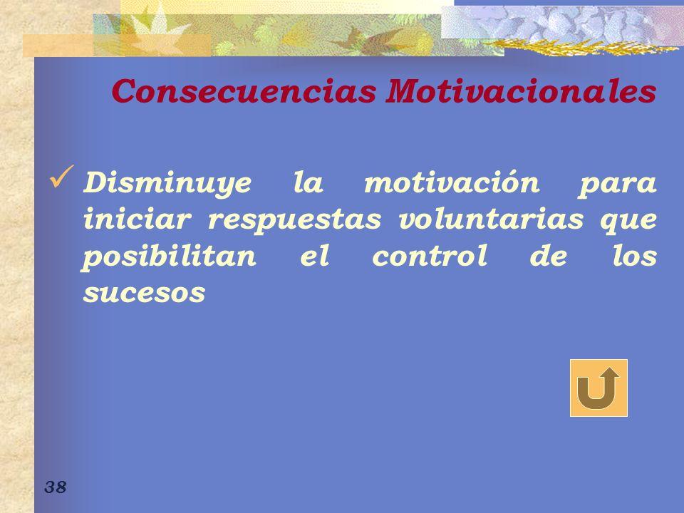 Consecuencias Motivacionales