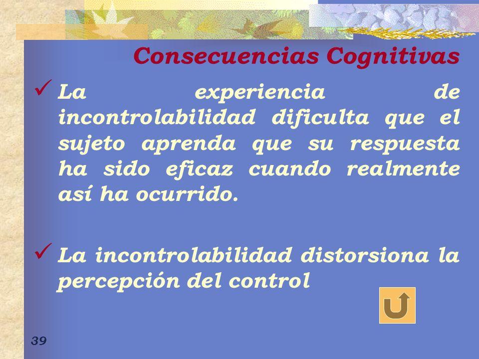 Consecuencias Cognitivas