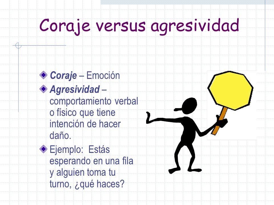 Coraje versus agresividad