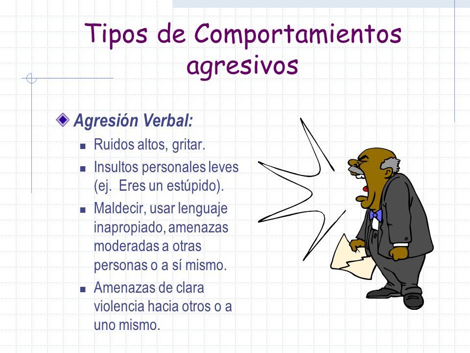 Tipos de Comportamientos agresivos