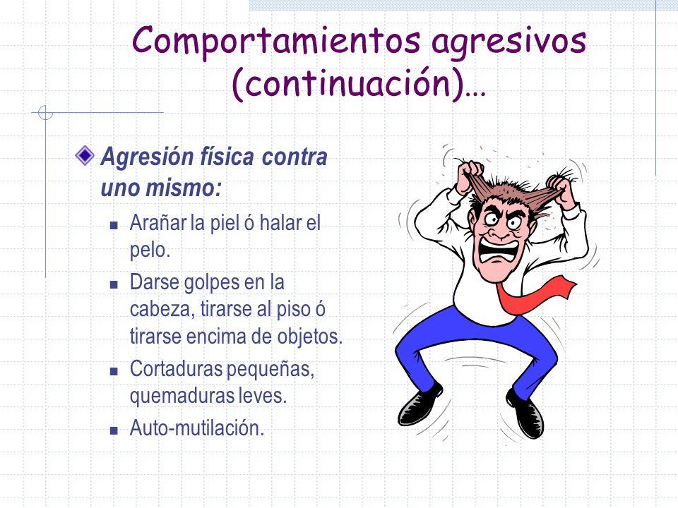 Comportamientos agresivos (continuación)…