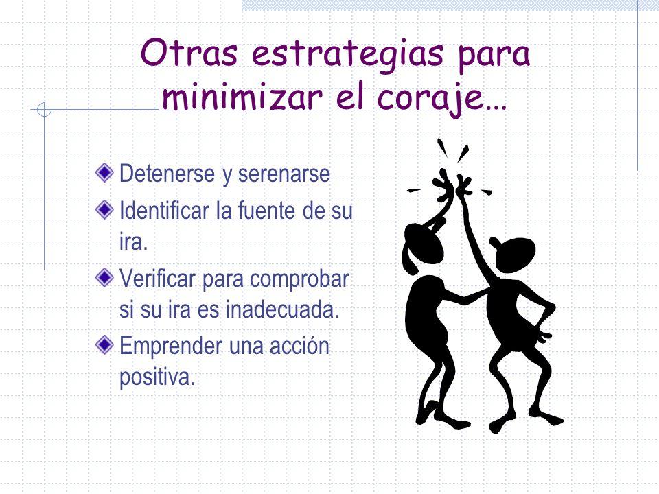 Otras estrategias para minimizar el coraje…