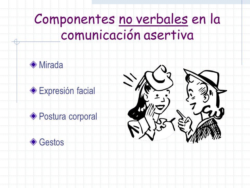 Componentes no verbales en la comunicación asertiva