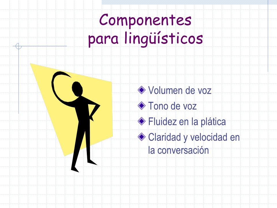Componentes para lingüísticos