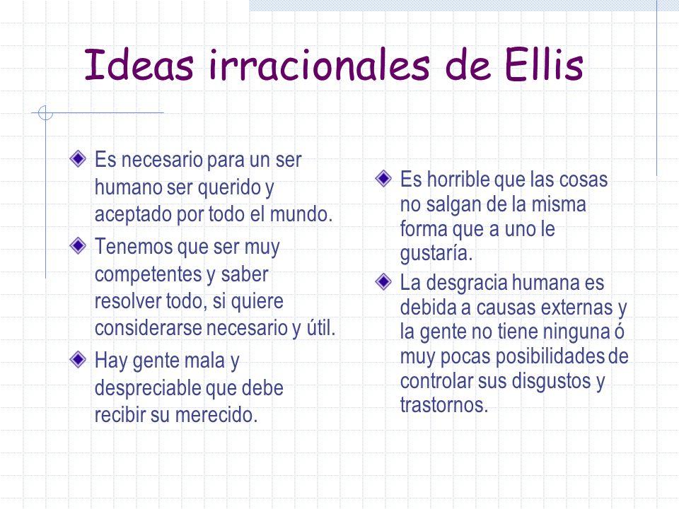 Ideas irracionales de Ellis