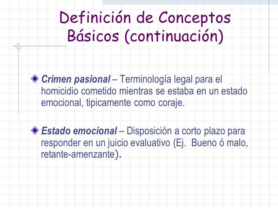Definición de Conceptos Básicos (continuación)