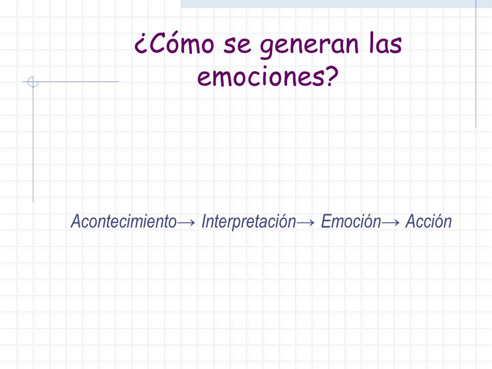 ¿Cómo se generan las emociones
