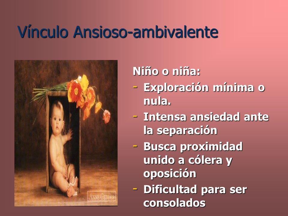 Vínculo Ansioso-ambivalente