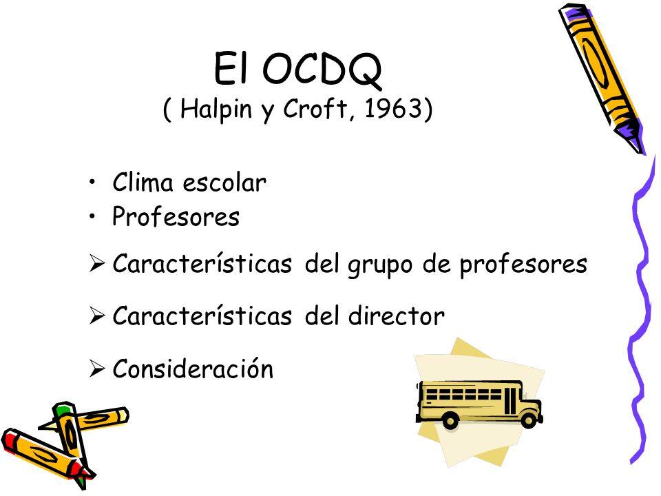 El OCDQ ( Halpin y Croft, 1963)
