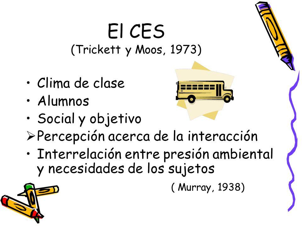 El CES (Trickett y Moos, 1973)