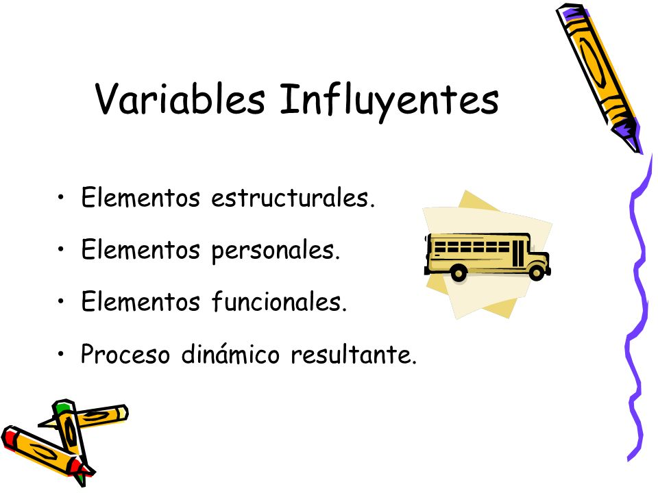 Variables Influyentes