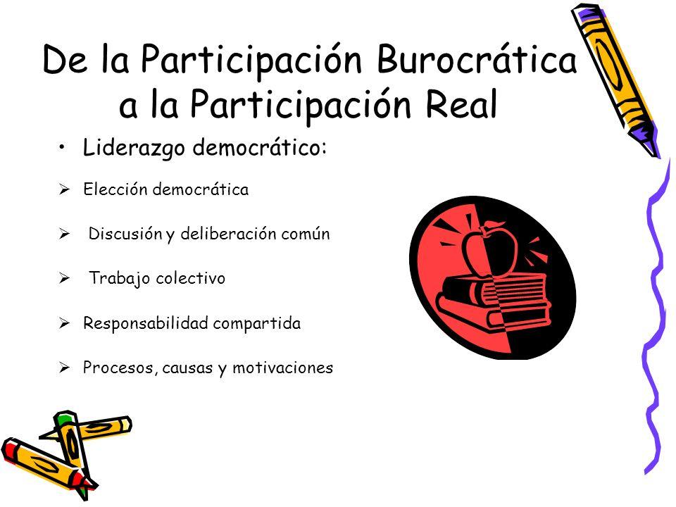 De la Participación Burocrática a la Participación Real