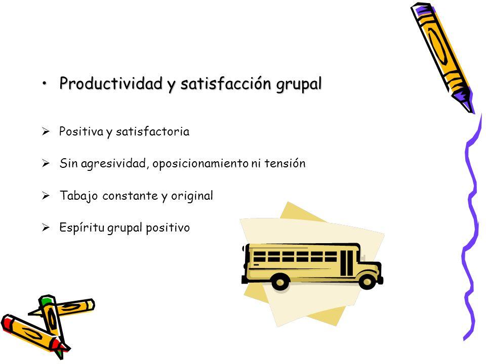 Productividad y satisfacción grupal