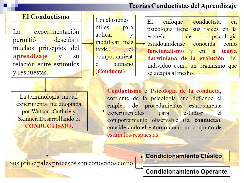 Teorías Conductistas del Aprendizaje