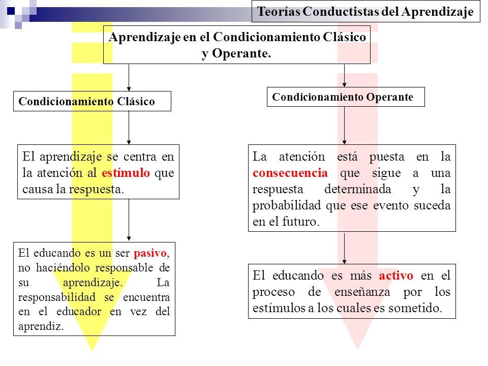 Aprendizaje en el Condicionamiento Clásico