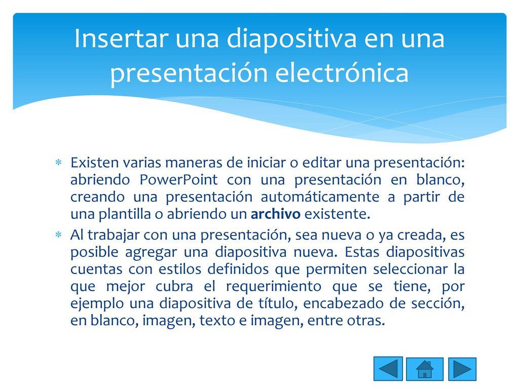 Manejo de aplicaciones de presentaciones digitales - ppt descargar