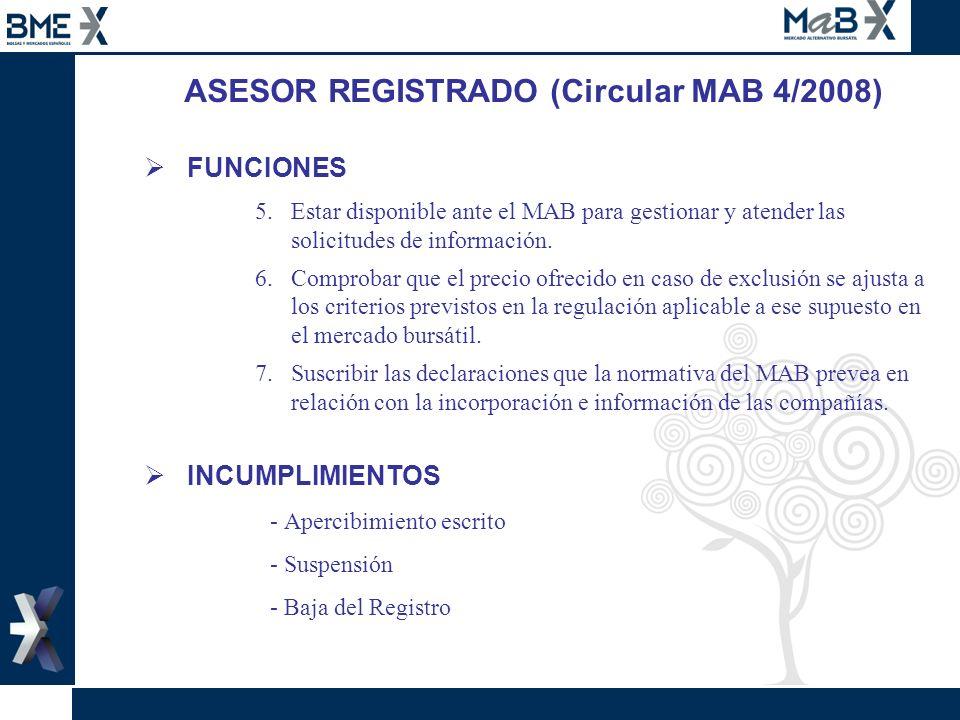 ASESOR REGISTRADO (Circular MAB 4/2008)