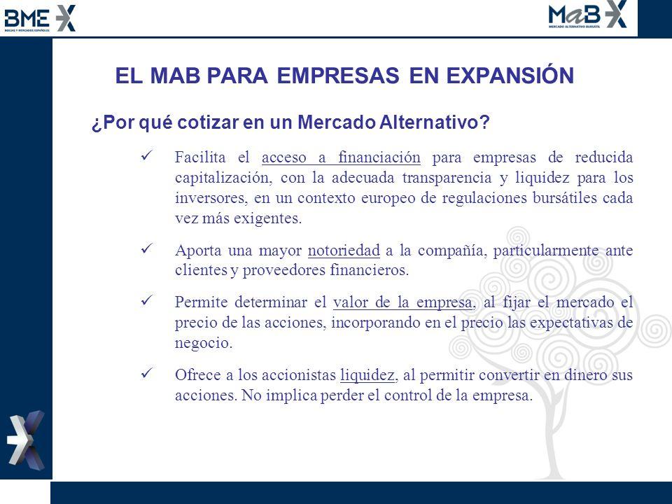 EL MAB PARA EMPRESAS EN EXPANSIÓN