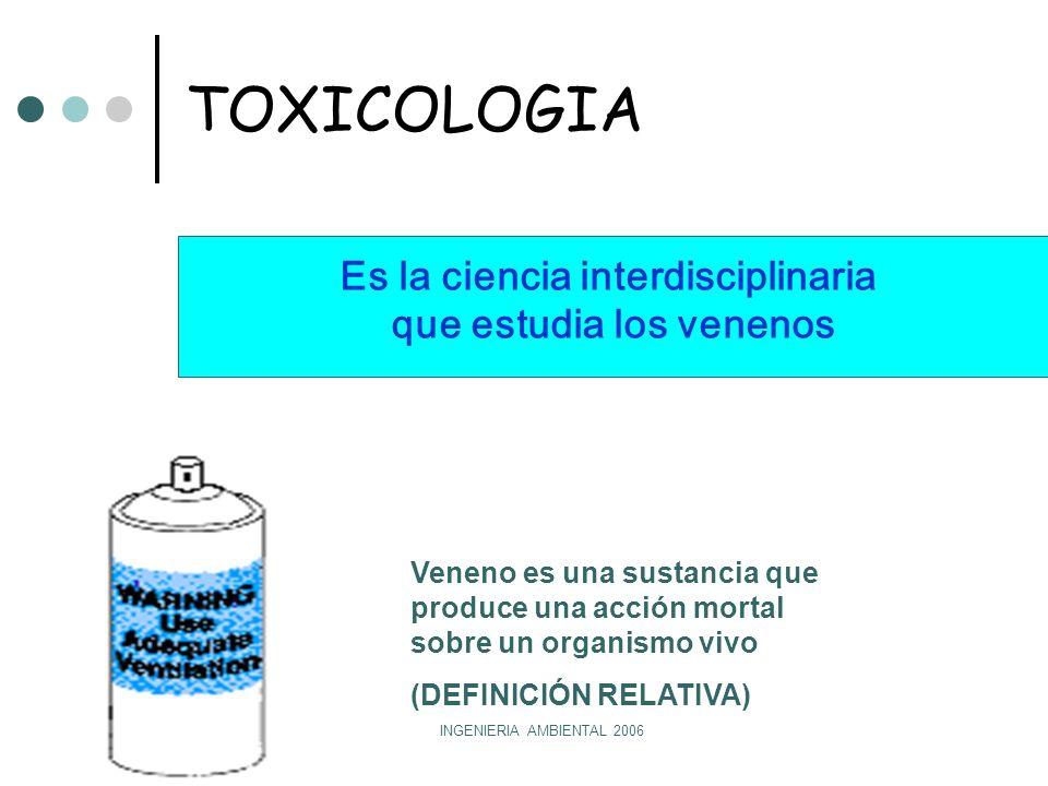 Es la ciencia interdisciplinaria que estudia los venenos