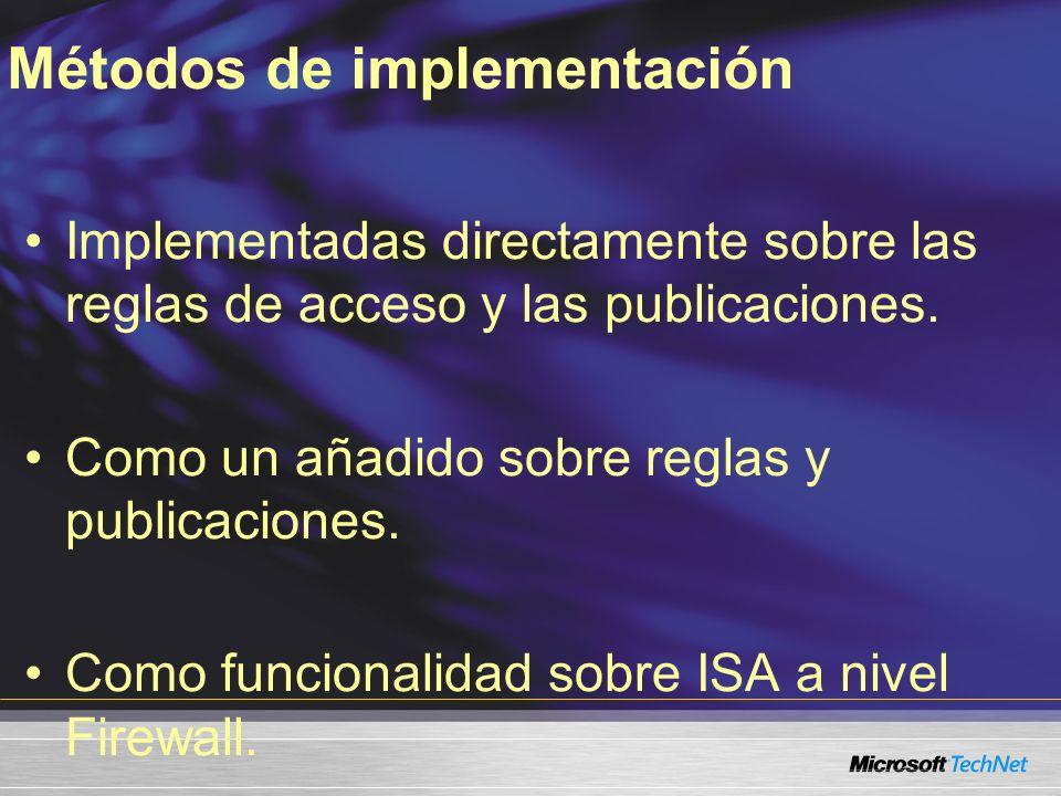 Métodos de implementación