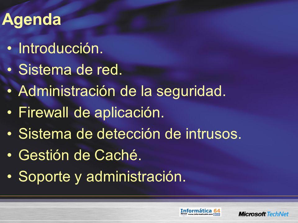 Agenda Introducción. Sistema de red. Administración de la seguridad.