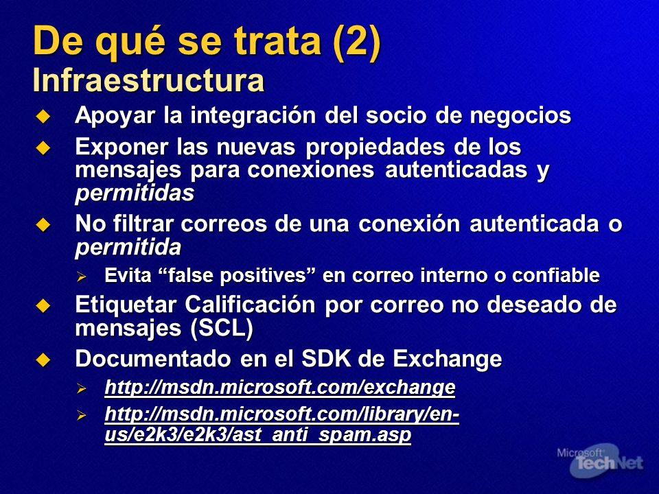 De qué se trata (2) Infraestructura