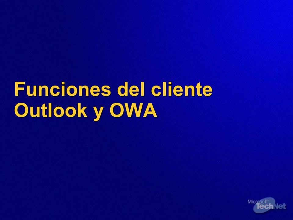 Funciones del cliente Outlook y OWA