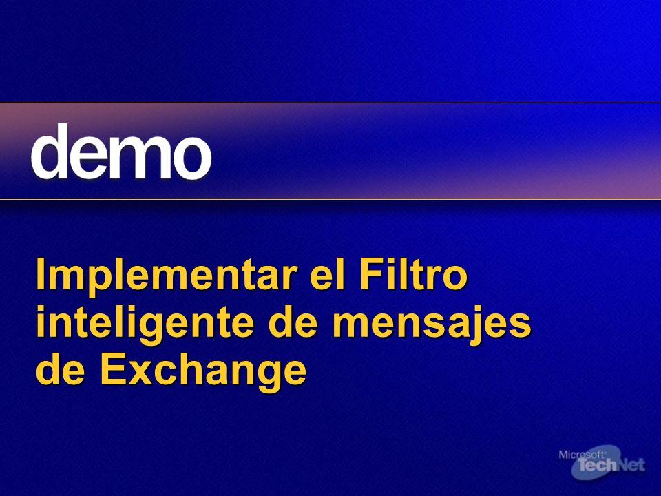 Implementar el Filtro inteligente de mensajes de Exchange