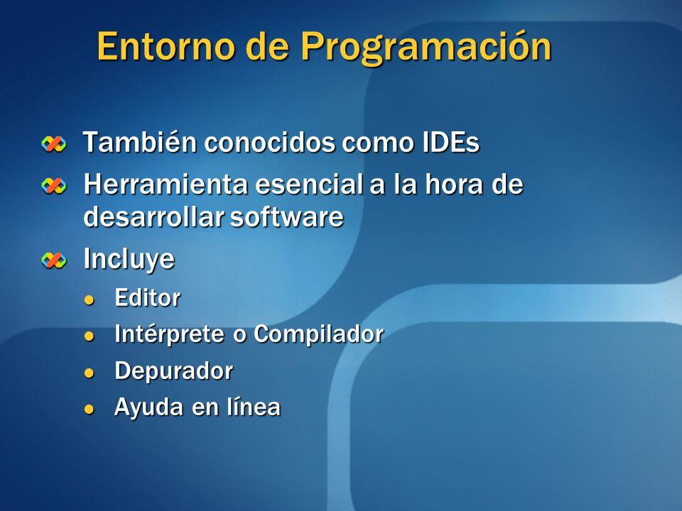 Entorno de Programación