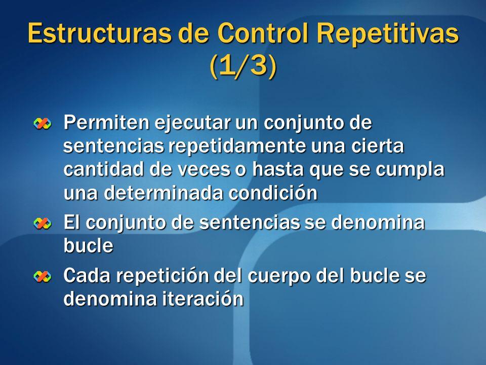 Estructuras de Control Repetitivas (1/3)