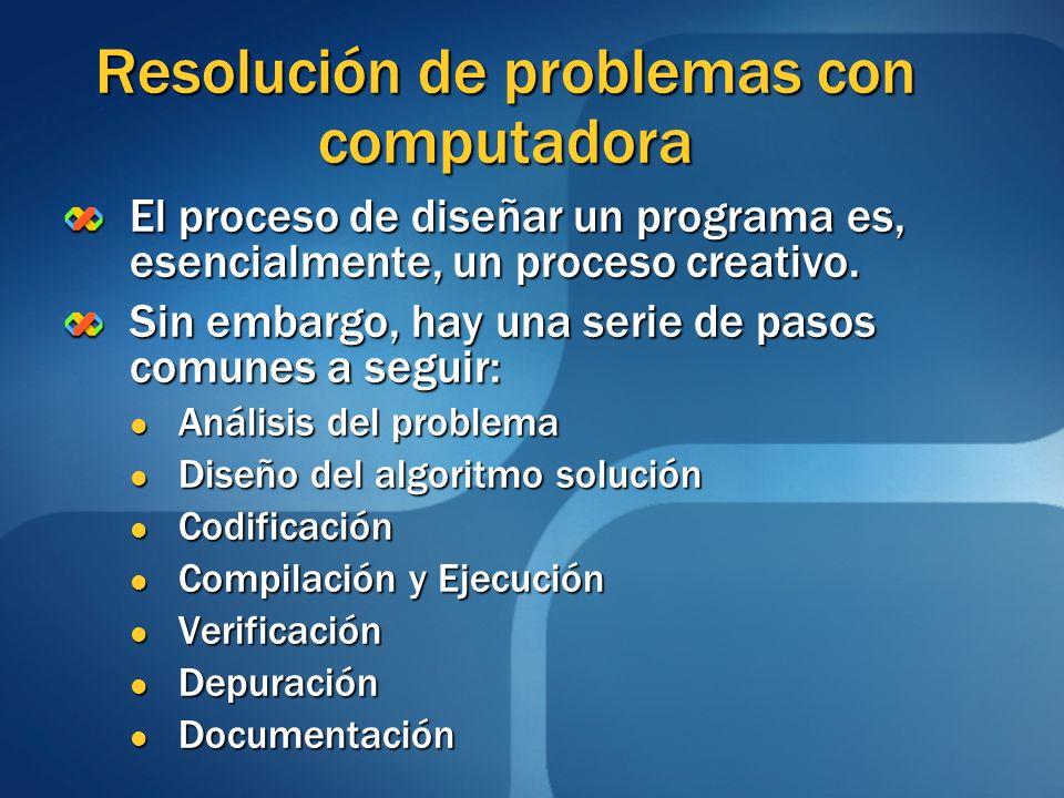 Resolución de problemas con computadora