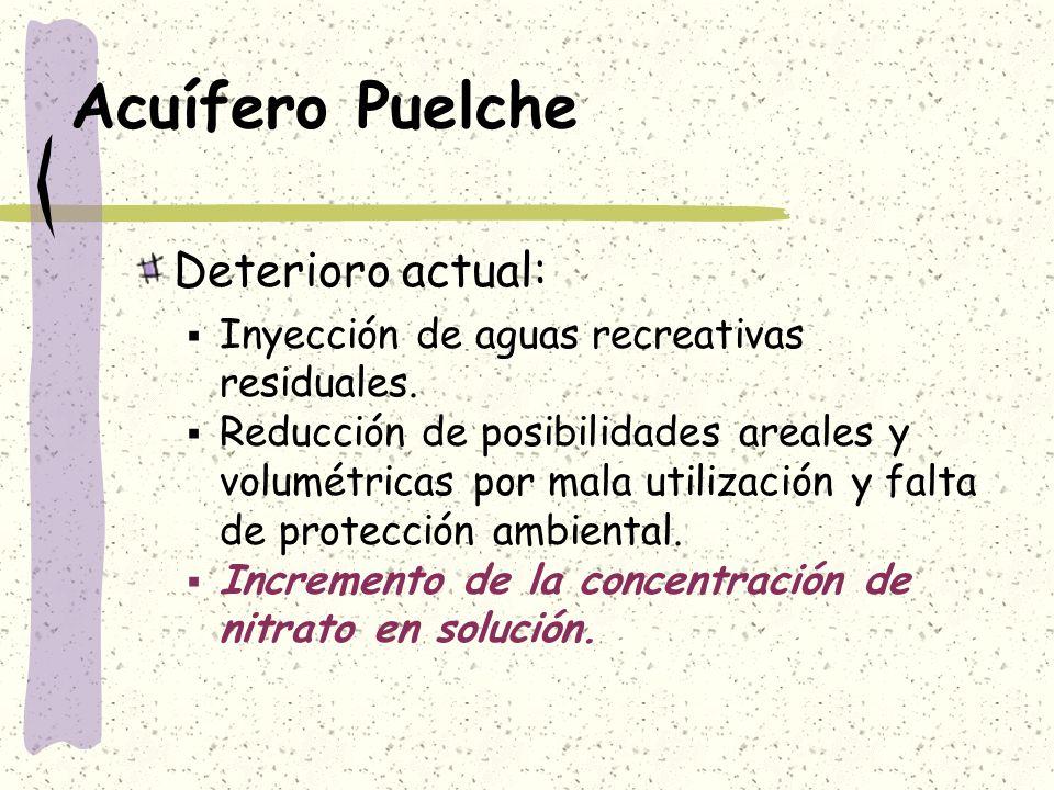 Acuífero Puelche Deterioro actual: