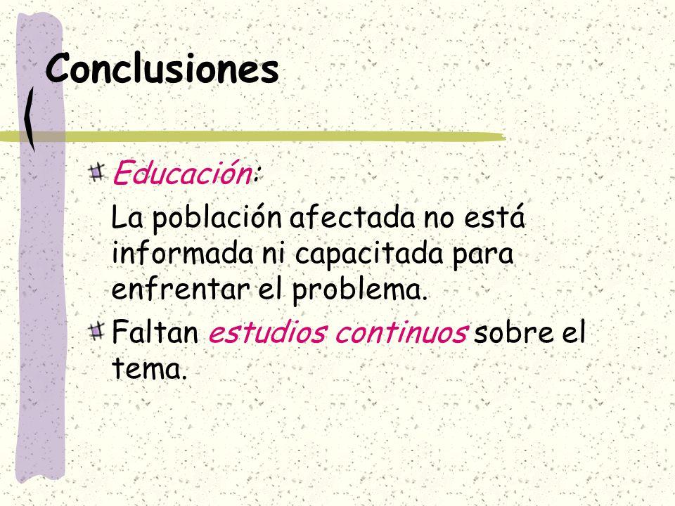 Conclusiones Educación: