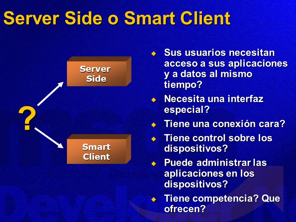 Server Side o Smart Client