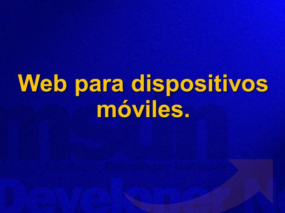 Web para dispositivos móviles.