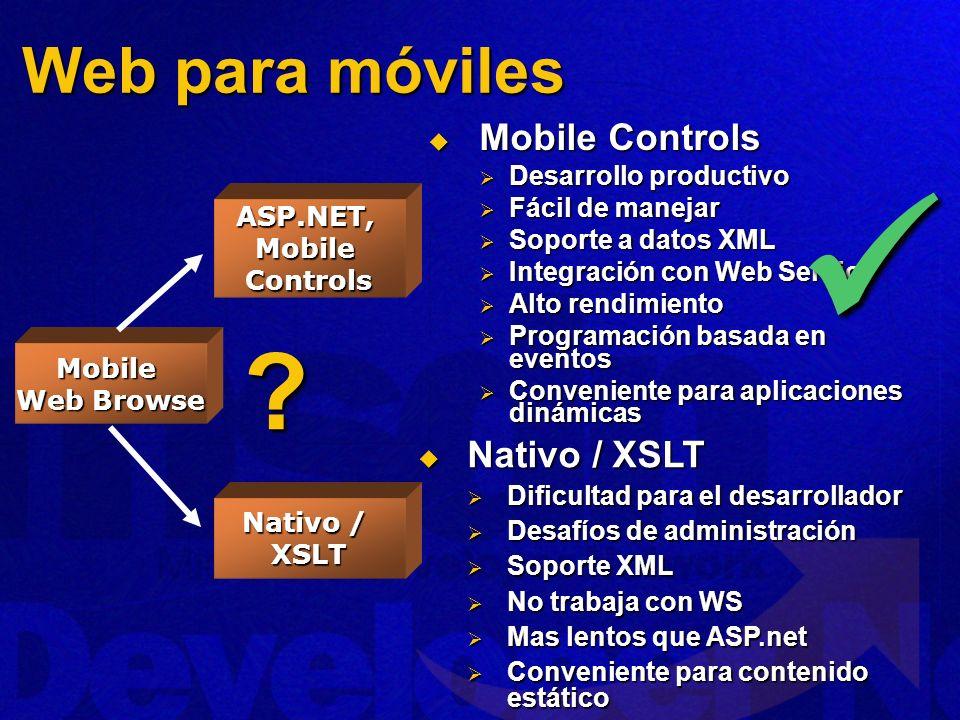 ASP.NET, Mobile Controls