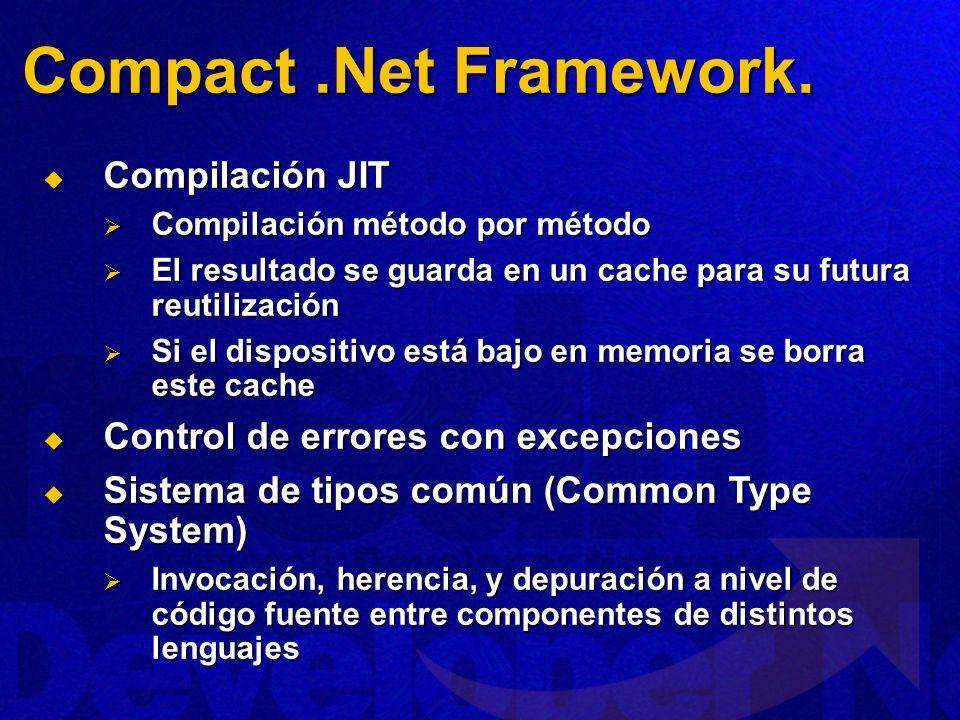 Compact .Net Framework. Compilación JIT