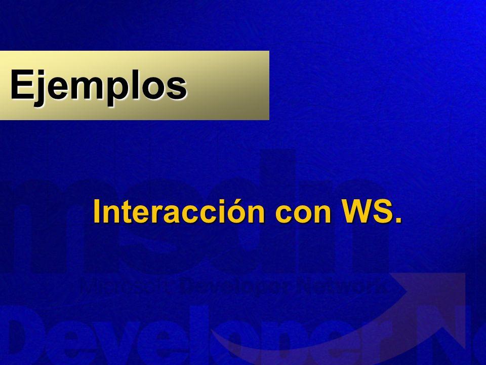 Ejemplos Interacción con WS.