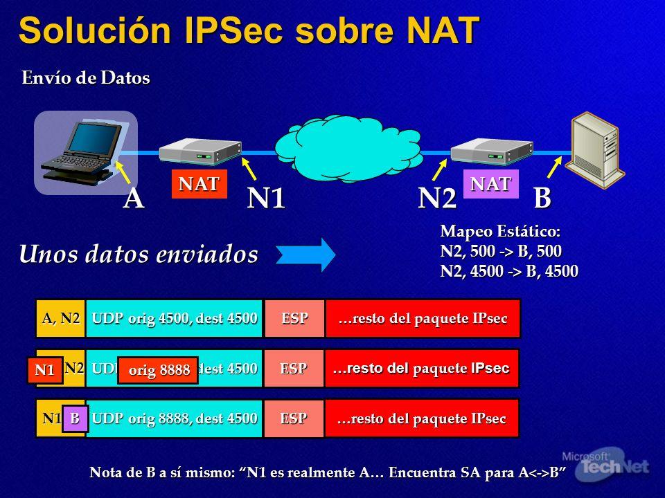 Solución IPSec sobre NAT