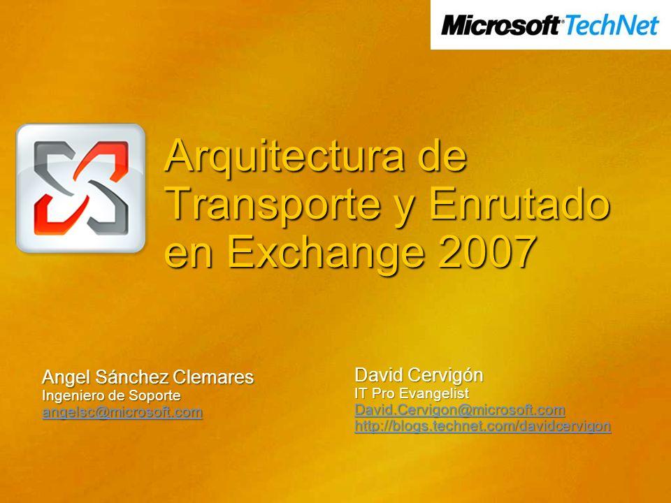 Arquitectura de Transporte y Enrutado en Exchange 2007