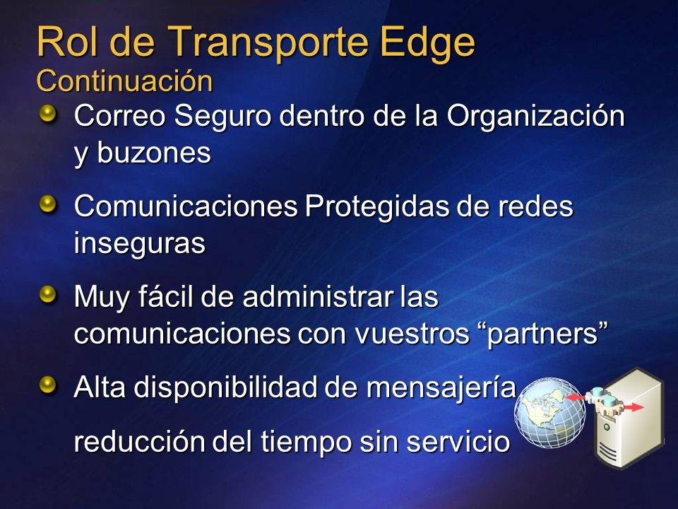 Rol de Transporte Edge Continuación