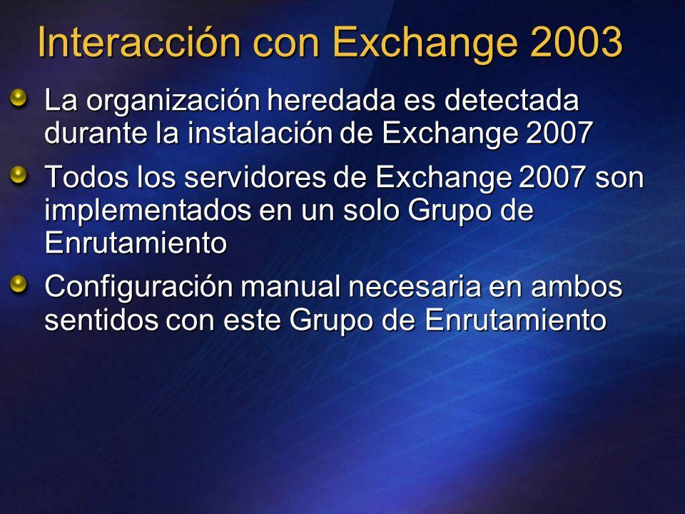 Interacción con Exchange 2003