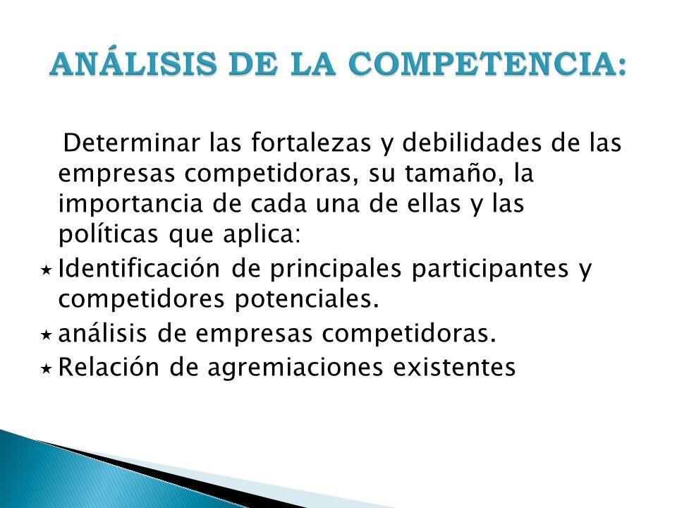 ANÁLISIS DE LA COMPETENCIA: