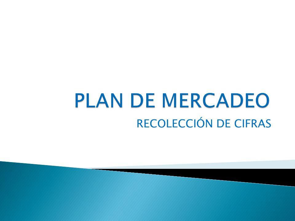 PLAN DE MERCADEO RECOLECCIÓN DE CIFRAS