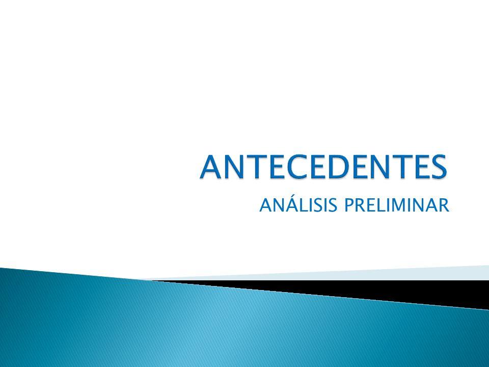 ANTECEDENTES ANÁLISIS PRELIMINAR