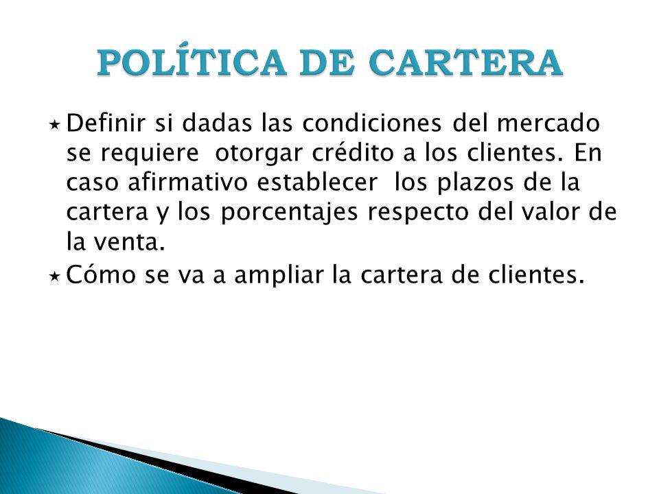 POLÍTICA DE CARTERA