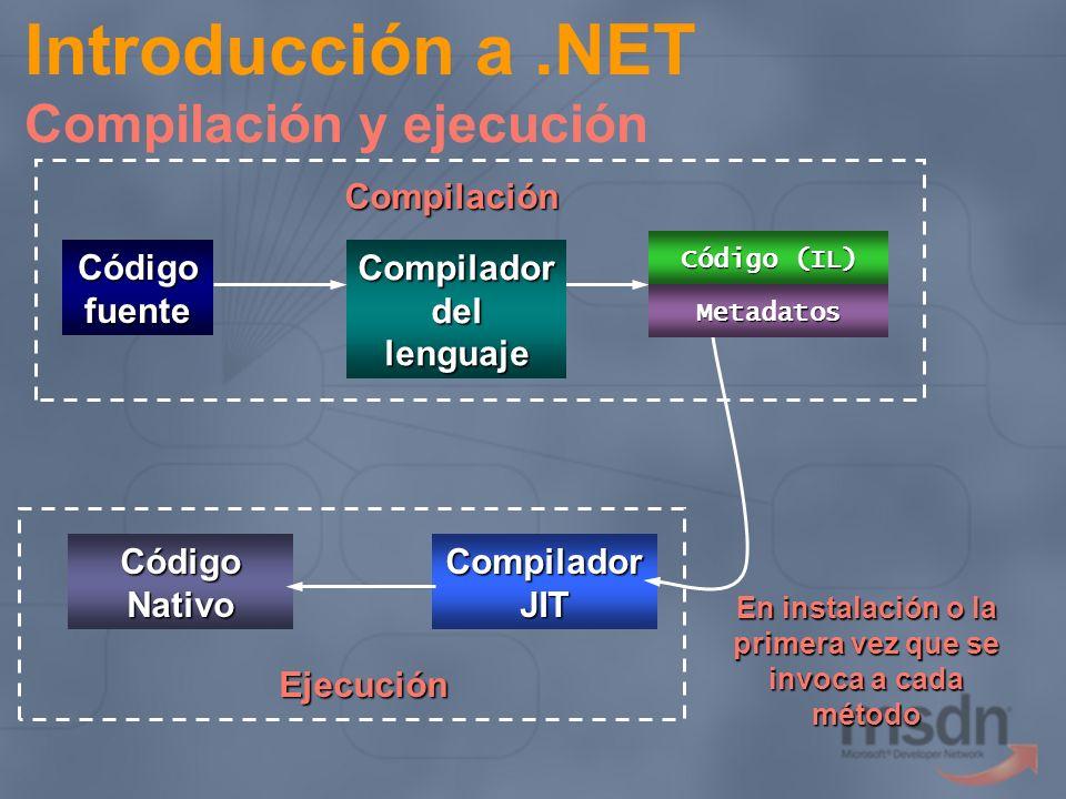 Introducción a .NET Compilación y ejecución